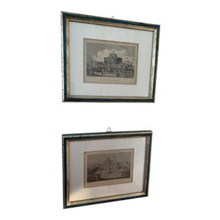Roman Monuments Framed Prints - a Pair For Sale