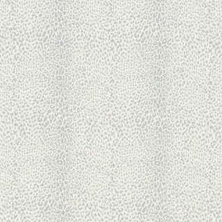 Schumacher Mini Leopard Indoor/Outdoor Fabric in Slate For Sale