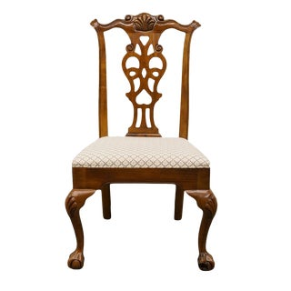 Late 20th Century Vintage Drexel Furniture Chippendale Style Dining Chair For Sale