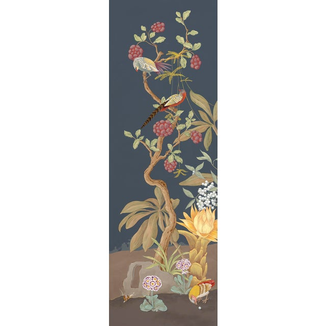 This modern version of a traditional Chinoiserie style is an eclectic piece to add to your art collection. The scene is...