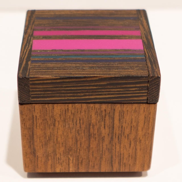Robert McKeown Robert McKeown Stamp Box with Stripes For Sale - Image 4 of 8