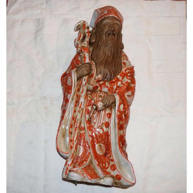 Early 20th Century Vintage Fine Kutani Kanj Moriage Okimono Mudmen Figurine For Sale In Denver - Image 6 of 6