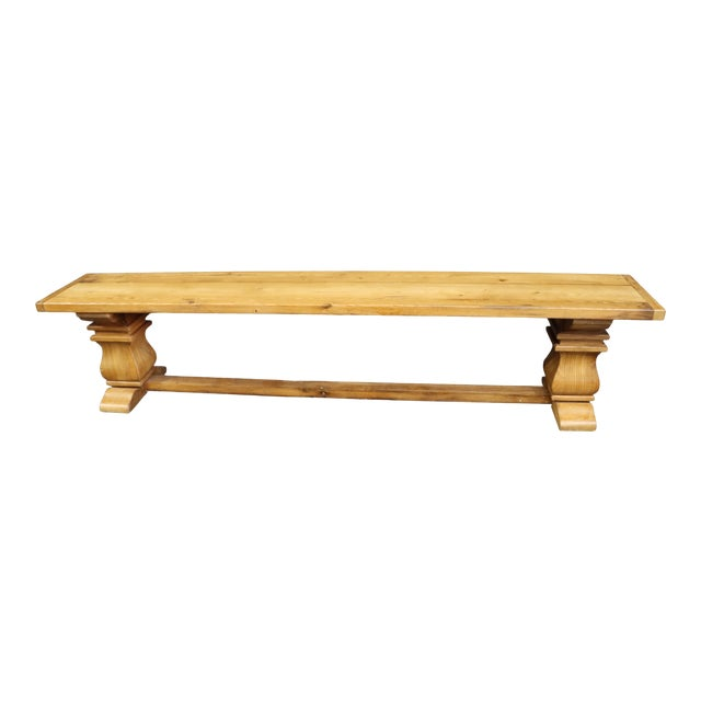 Rustic Country French Style Oak & Pine Bench For Sale