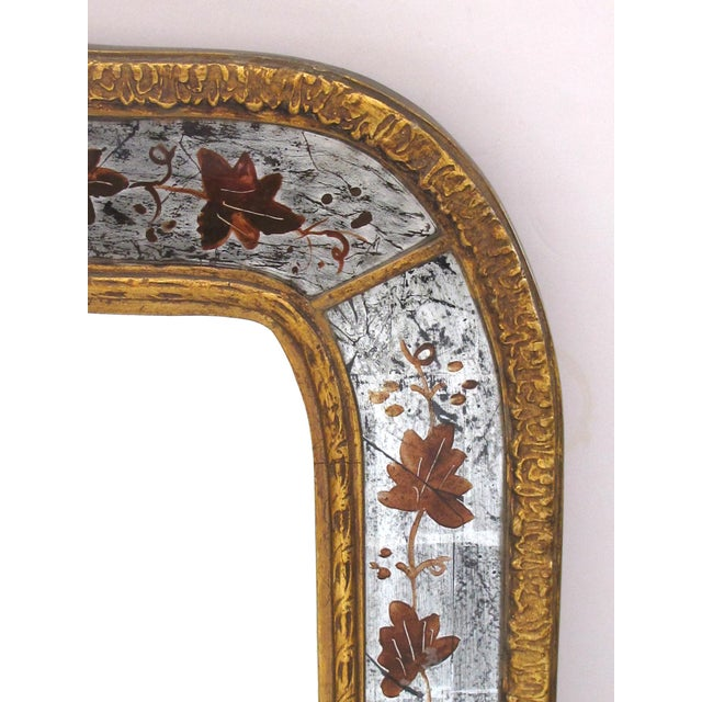 Art Deco French Maison Jansen 1940's Eglomise Console Table and Mirror For Sale - Image 3 of 12