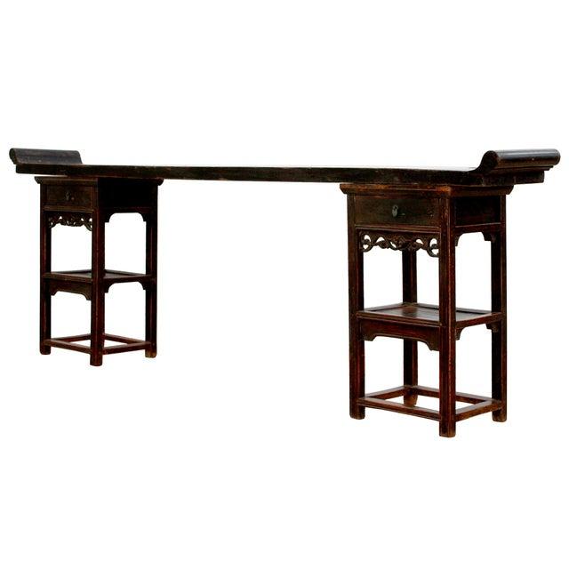 Sarreid Ltd. Ming Style Sarreid Ltd. Walnut Console For Sale - Image 4 of 5