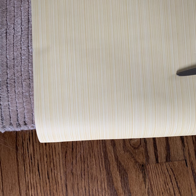 Thibaut Yellow Strie Wallpaper Roll- Double Roll For Sale In New York - Image 6 of 8