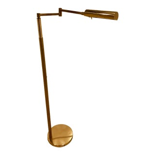 Koch & Lowy Adjustable Pharmacy Floor Lamp For Sale
