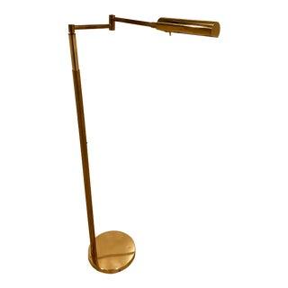 Koch & Lowy Adjustable Pharmacy Floor Lamp For Sale