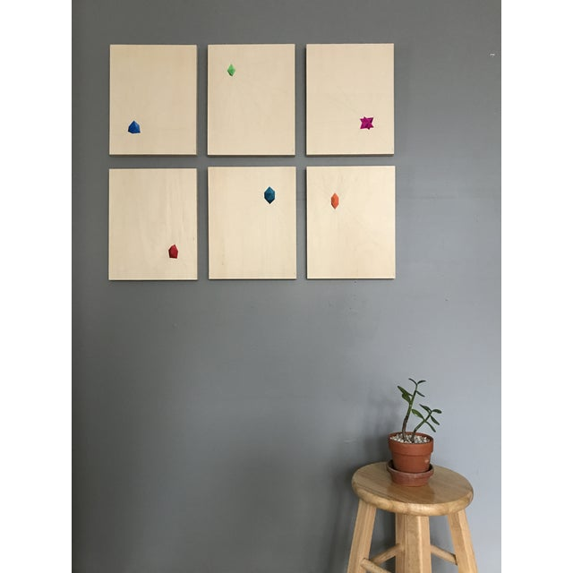 Geometric Abstract Paintings - Set of 6 - Image 3 of 10