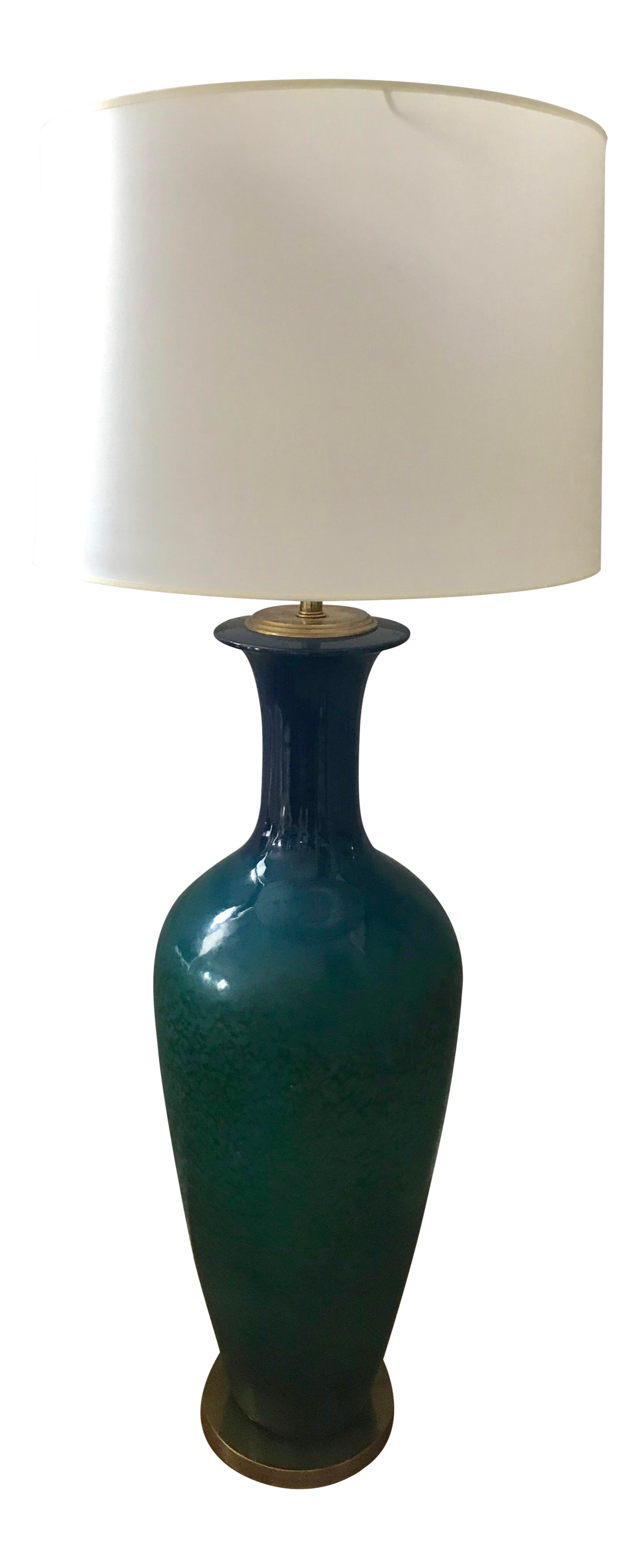 Blue Green Glazed Ceramic Floor Lamp Chairish