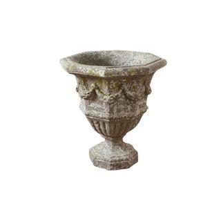 Vintage Stone Pedestal Planter For Sale