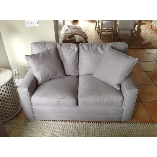 Contemporary Lexington Bristol Grey Performance Fabric Loveseat & Couch Sofa - a Pair For Sale - Image 3 of 13
