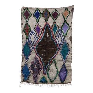 "AZILAL Vintage Moroccan Rug, 4'6"" x 6'7"" feet"