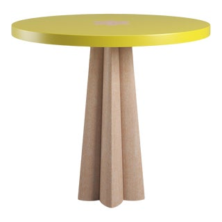 Danielle Side Table - Natural Cerused Oak - Citron For Sale