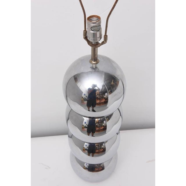 Pair of Kovacs Stacked Chrome Ball Lamp, 1970s, Usa For Sale In Miami - Image 6 of 9