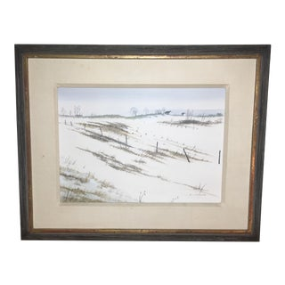 "Sid Seeley ""Farm In January"" Painting For Sale"