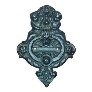 Antique Cherubs Cast Iron Door Knocker
