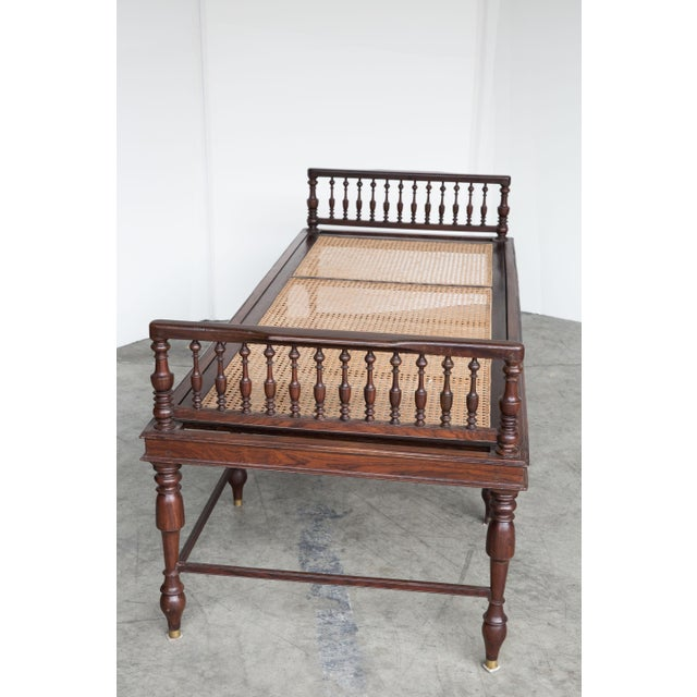 Antique Anglo-Indian Caned Daybed - Image 7 of 10