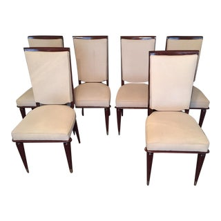 French Deco Rosewood Dining Chairs - Set of 6