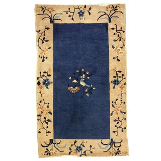 1900s Hand Made Antique Peking Chinese Rug - 3' X 5' For Sale