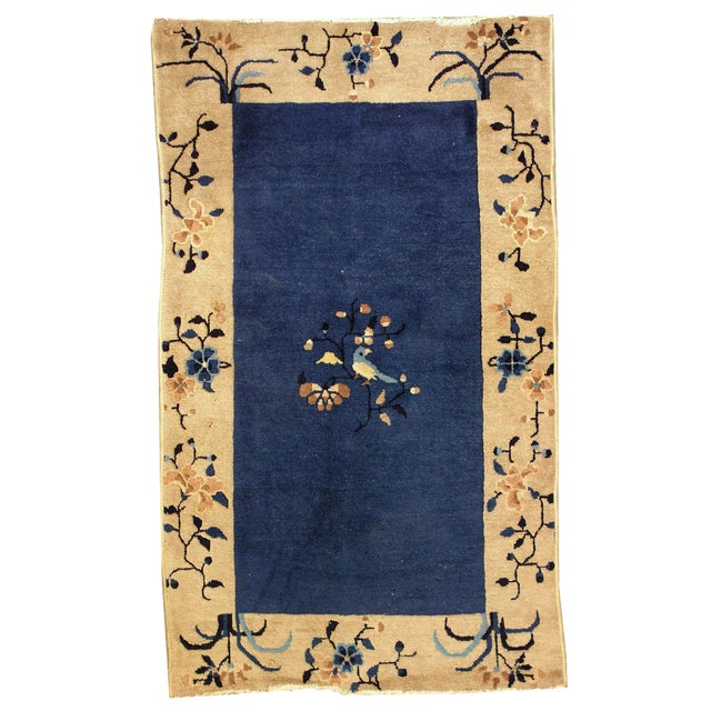 1900s Hand Made Antique Peking Chinese Rug