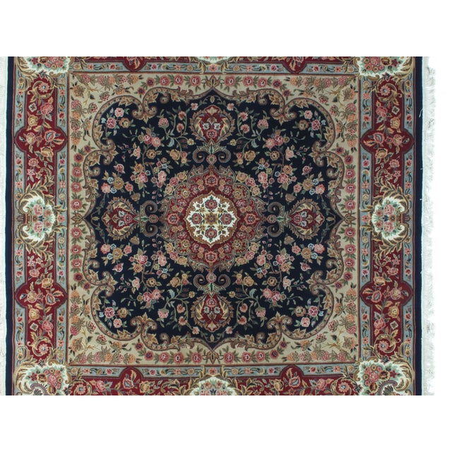 Square Sino Persian Carpet - 8′ × 8′1″ - Image 4 of 8