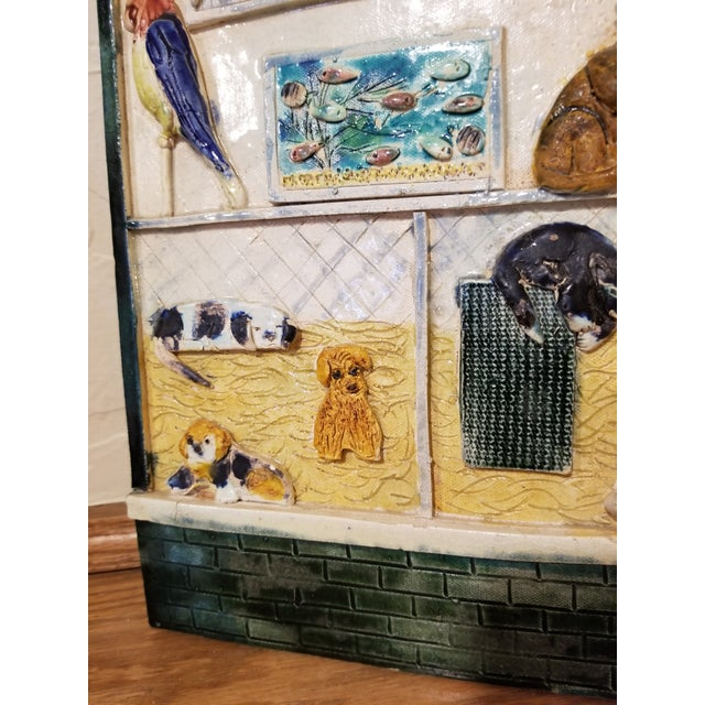 Ceramic Pet Store Theme Wall Plaque For Sale - Image 11 of 12