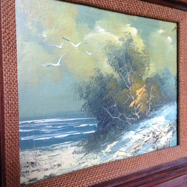 Vintage Oil on Board Seascape Painting - Image 11 of 11