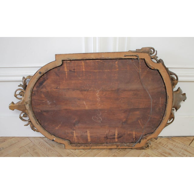 Mid 20th Century Vintage Neoclassical Style Giltwood Mirror For Sale - Image 5 of 7