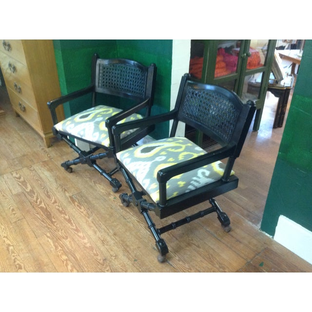 Mid-Century Campaign Chairs - Pair - Image 7 of 7