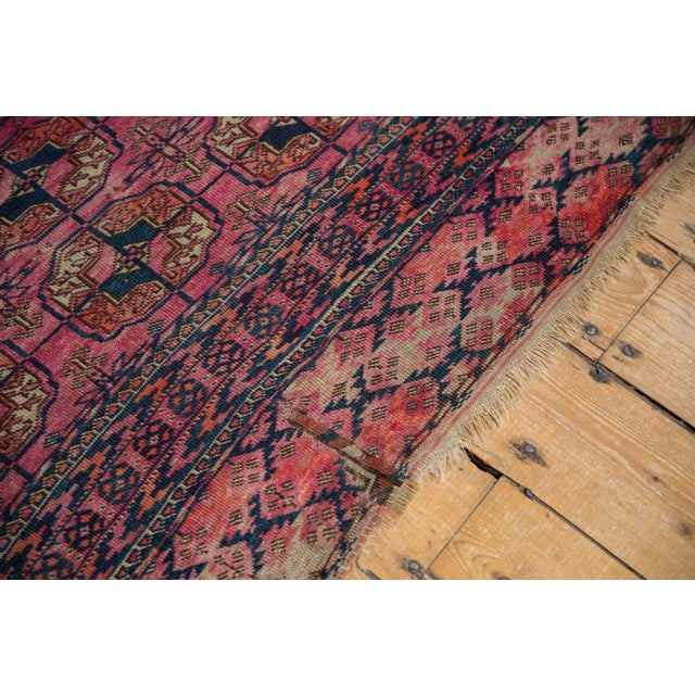 "Boho Chic Antique Turkmen Square Rug - 3'5"" x 3'11"" For Sale - Image 3 of 13"