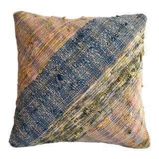 "Turkish Kilim Pillow Cover Vintage Handmade Cotton Ragrug Sham Throw - 16"" X 16"" For Sale"