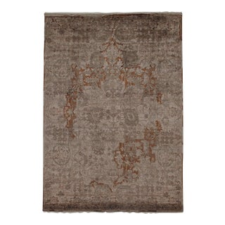"""Pasargad N Y Modern Wool & Bamboo Silk Hand Knotted Area Rug - 5'6"""" X 7'9"""" For Sale"""