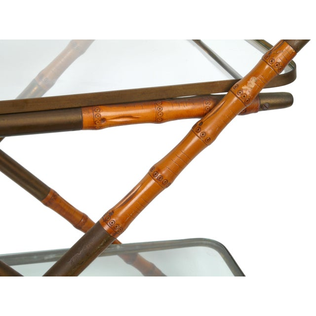 1950 Cesare Lacca Brass Serving Cart For Sale In Miami - Image 6 of 8