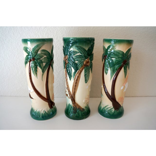 Vintage Harveys Hula Girl Palm Tree Tiki Mugs - 3 - Image 2 of 5
