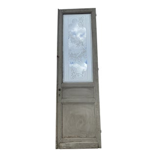 Etched Glass Pantry/ Interior Door Featuring Fairies Laying in the Sunshine For Sale