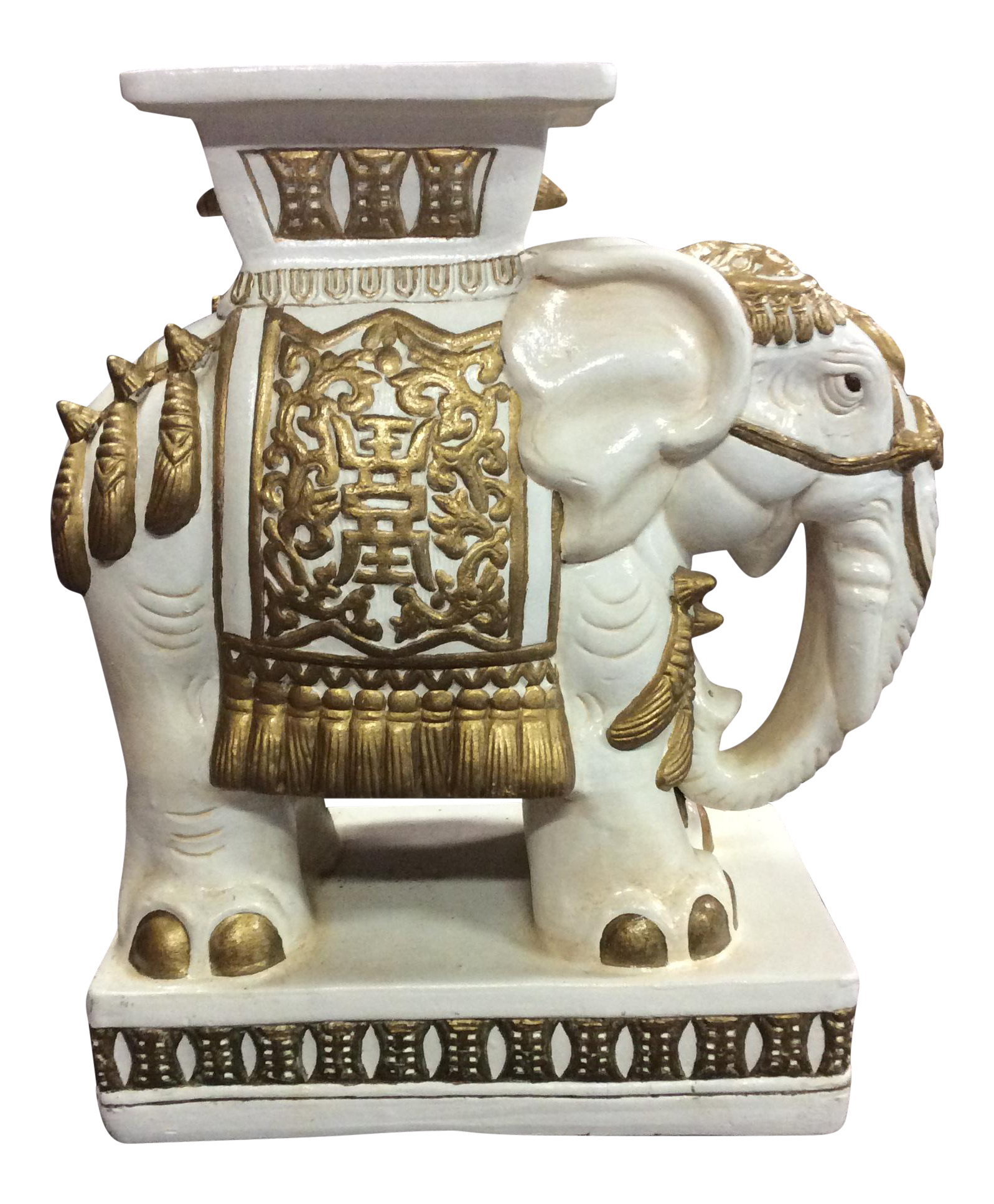 Ceramic Elephant Garden Stool   Image 1 Of 11