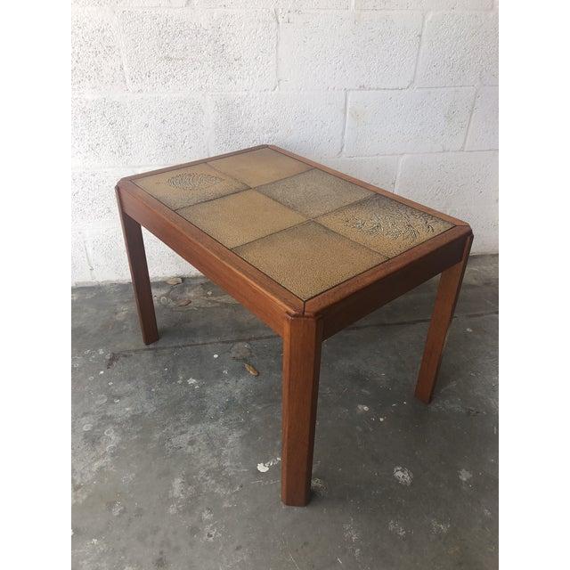 Vintage Mid Century Danish Modern Tile Top Side Table by Uldum Moblerfabrik Denmark For Sale In Miami - Image 6 of 13