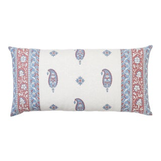 Schumacher X Mark D Sikes Ojai Paisley Pillow in Red For Sale