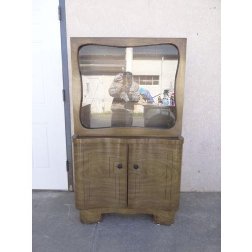 Mid-Century James Mont Petite China Cabinet Hutch Server Sideboard For Sale - Image 11 of 11