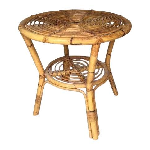 Albini-Style Bentwood Bamboo Side Table - Image 1 of 7