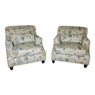 Thomasville Upholstered Armchairs- a Pair For Sale