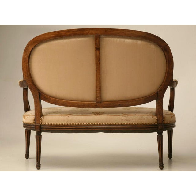 Louis XVI Aubusson Upholstered Settee - Image 8 of 11