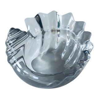 1960s Danish Modern Art Glass Seashell Bowl For Sale