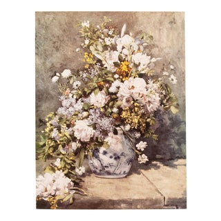 "1950s Auguste Renoir, ""Large Vase of Flowers"" First Edition Lithograph For Sale"