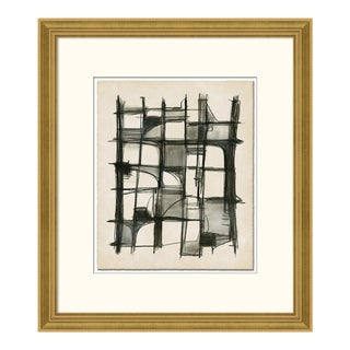 Unstructured by Ilana Greenberg in Gold Frame, Medium Art Print Matted For Sale