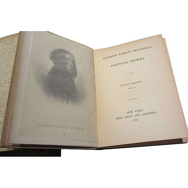 Elizabeth Barrett Browning Poetry - 5 Volumes - Image 6 of 7