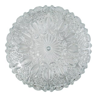 Floral Hatch Limburg Glass Flush Mounts (3 Available) For Sale