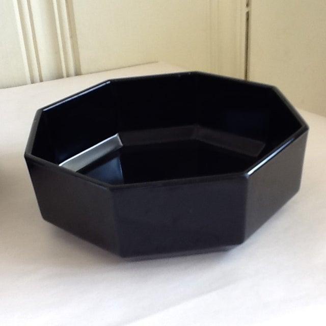 Black Black Ceramic French Bowls - Set of 3 For Sale - Image 8 of 10
