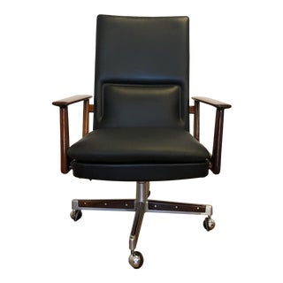 Arne Vodder for Sibast Leather Office Chair For Sale